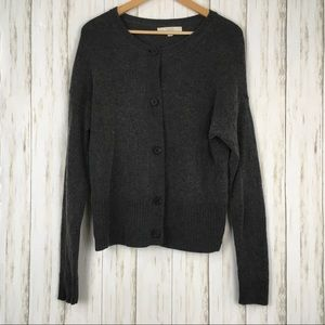 Ann Taylor Loft Merino Wool Blend Cardigan Sweater
